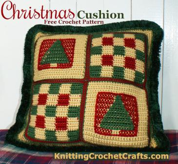 Christmas Cushion: A Free Crochet Pillow Pattern